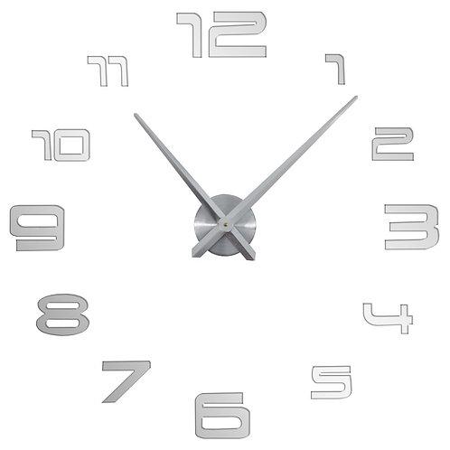 Zegar ścienny 3D duży, do naklejenia na ścianę