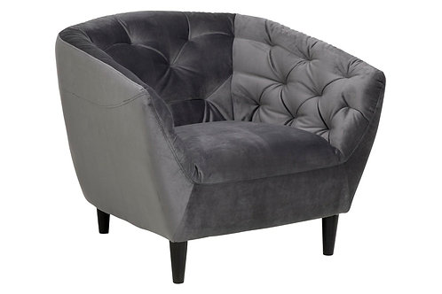 Fotel pikowany Amelia szary