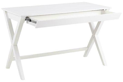 Designerskie biurko białe z szufladą