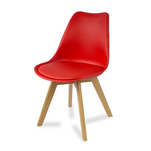 Krzesło z poduszka czerwone