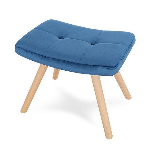 Podnóżek niebieski  welurowy do fotela uszaka Paris 4
