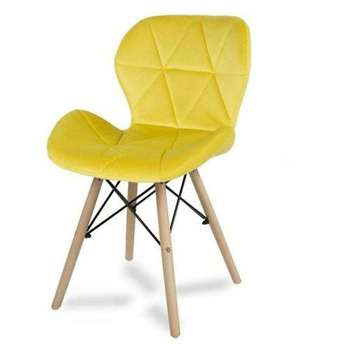 Krzesło żółte  welurowe Lusia 6