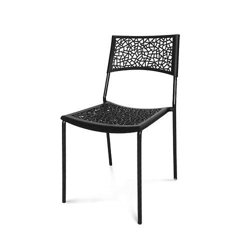 Krzesło czarne  ażurowe 111