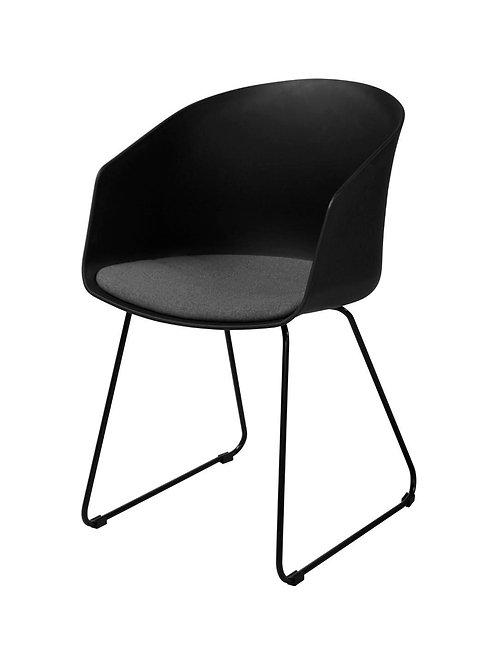 Krzesło czarne  z poduszką Syriusz 2