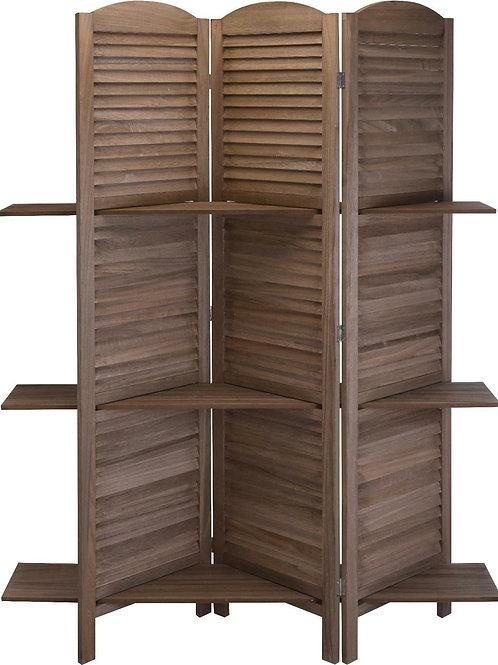Drewniany Parawan z  półkami