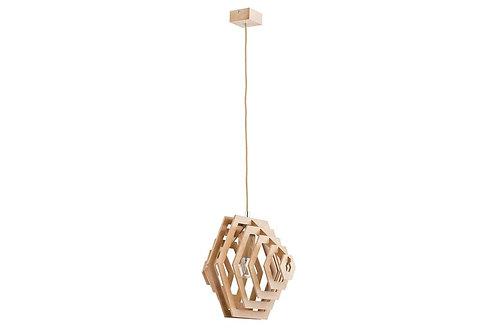 Lampa drewniana ażurowa 1