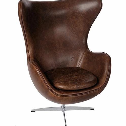 Fotel skórzany Arne Egg - Vintage Premium