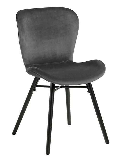 Krzesło welurowe szare Bart