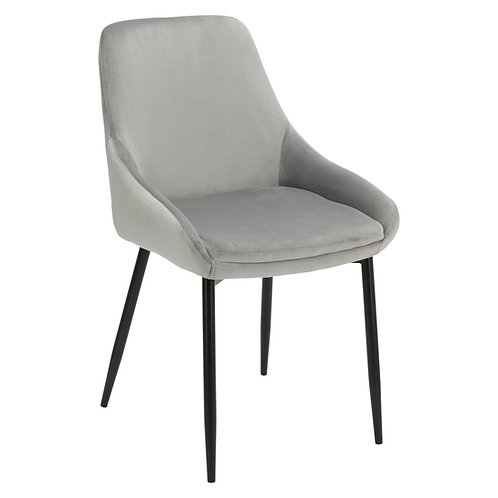 Krzesło szare welurowe Rozalia 28