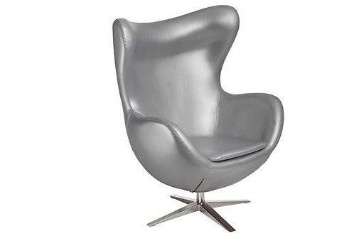 Fotel Arne Egg Silver Edition - Skóra ekologiczna