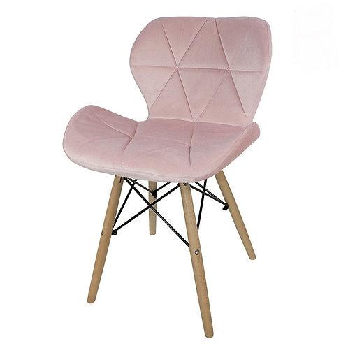 Krzesło różowe welurowe Lusia 33