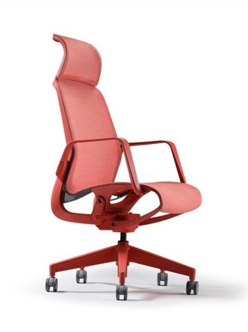 Fotel biurowy pomarańczowy Majorka