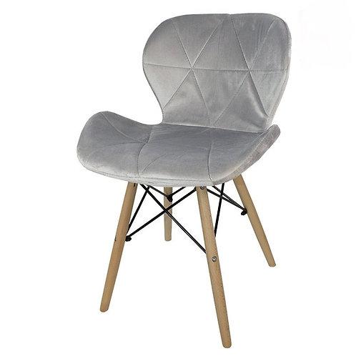 Krzesło szare  welurowe Lusia 4