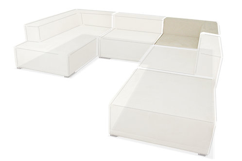 Sofa modułowa - Narożnik 100x100