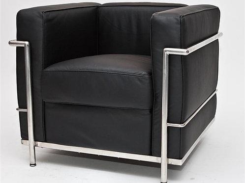 Fotel Kubik - czarna  skóra