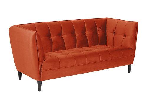 Sofa pikowana Stella pomarańczowa  182 cm
