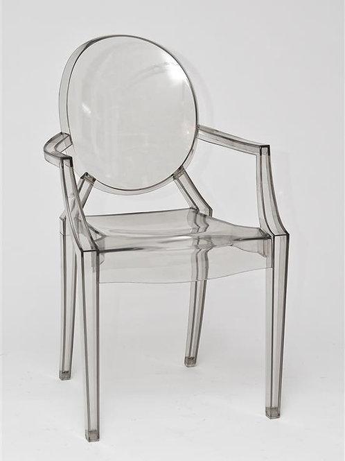 Krzesło transparentne szare Apolonia 231