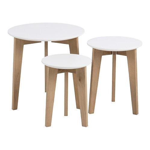 Zestaw stolików kawowych z drewna 3333