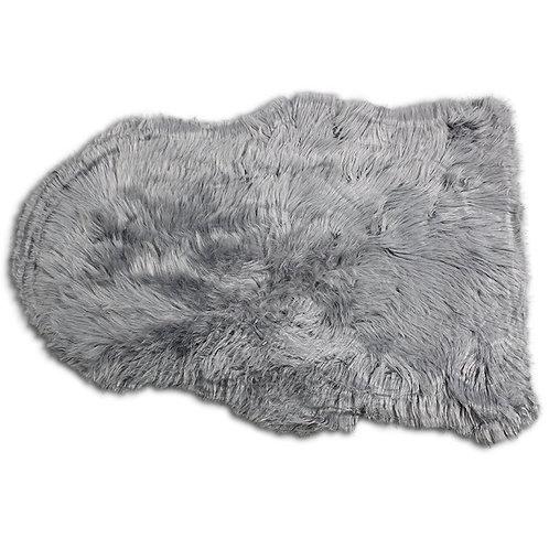 Szare futerko - dywanik 90x65 cm
