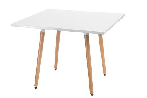 Kwadratowy stół - biały blat  100x100 cm