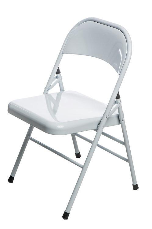 Krzesło białe składane metalowe  Fabian 11