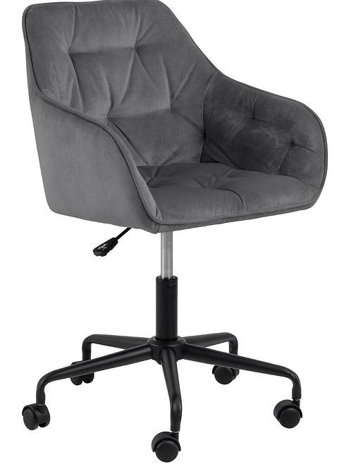 Fotel szary biurowy welurowy  SA  2442