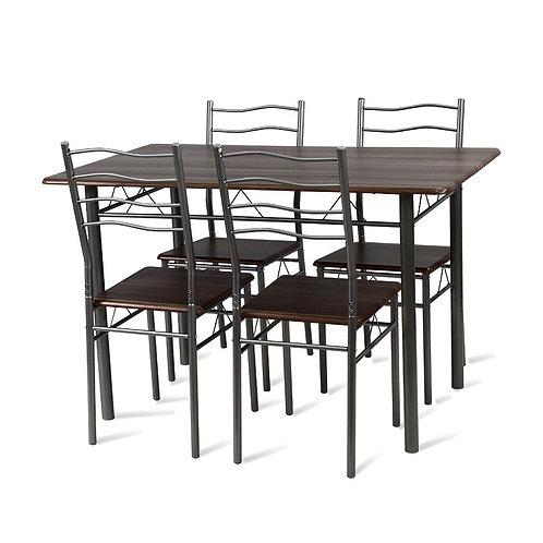 Zestaw mebli Orzech 4 krzesła i stół