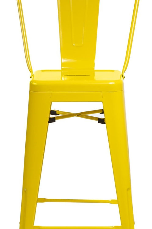Designerski żółty hoker Pati 3