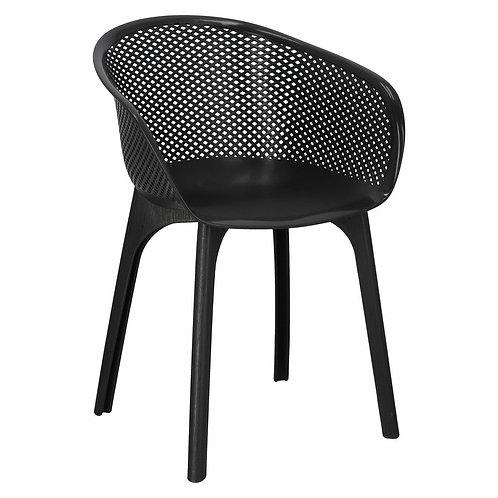 Krzesło czarne  ażurowe  Alicja 1