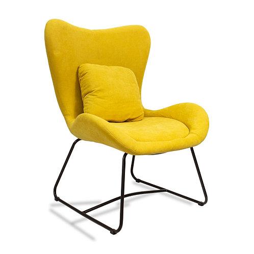 Fotel uszak industrialny żółty
