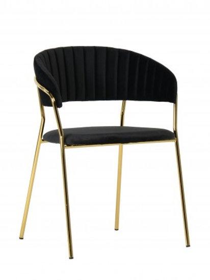 Krzesło czarne  welurowe Liliana 30