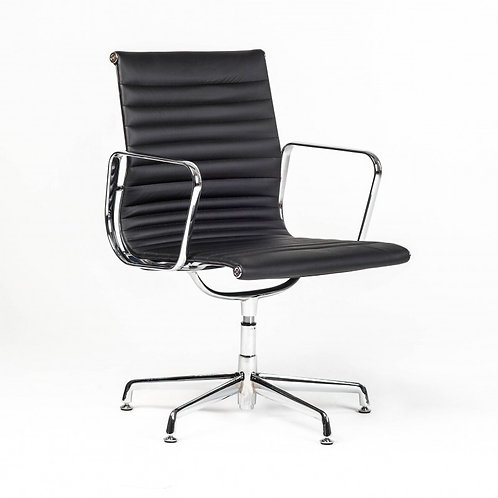 Fotel biurowy ze skóry Black 111