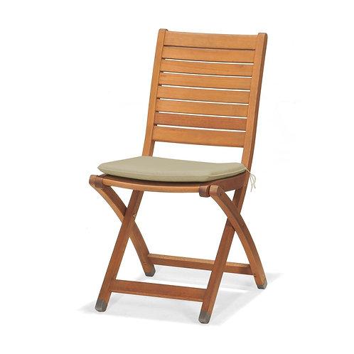 Krzesło ogrodowe z poduszką  - drewno