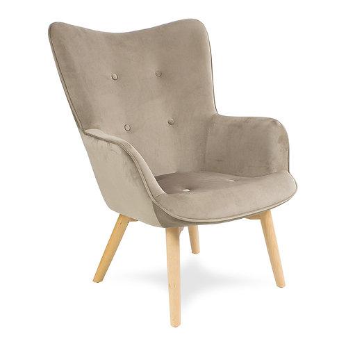 Fotel pikowany welurowy  Cozy 3