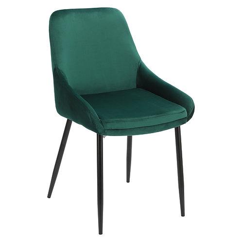Krzesło zielone  welurowe Rozalia  30
