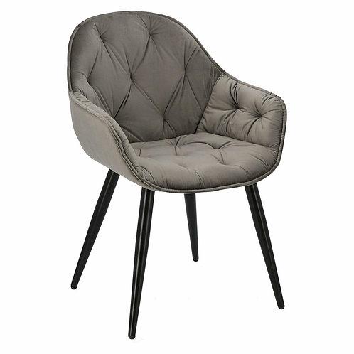 Krzesło szare pikowane Dajana 33
