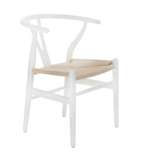 Białe krzesło  drewniane Luis 55