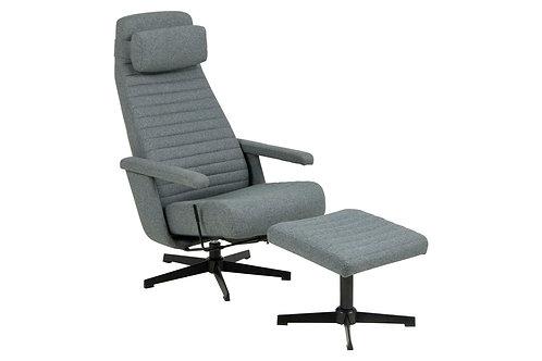 Fotel biurowy szary Lilliana 28