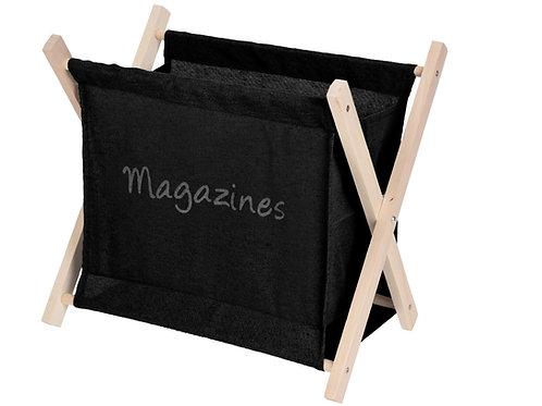 Designerski gazetnik czarny