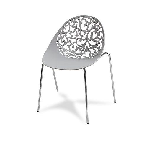 Krzesło ażurowe  Flourish Grey