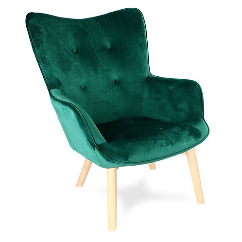 Fotel Uszak Zielony ciemny Tedi 28