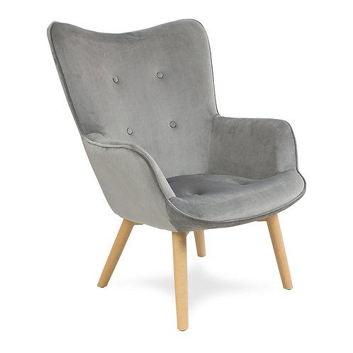 Fotel pikowany welurowy  Cozy 2