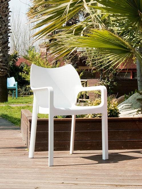 Krzesło ogrodowe białe Malta 28
