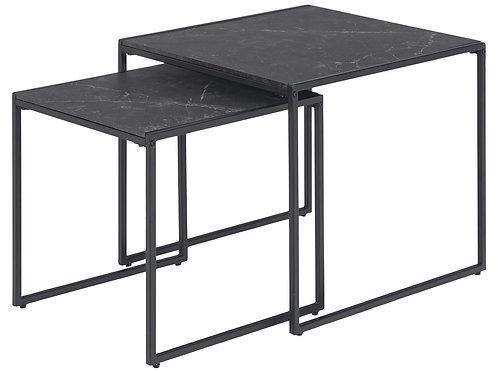 Zestaw czarnych stolików 2  Natan 33