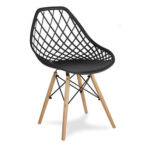 Krzesło czarne na drewnianych nogach Beti 2