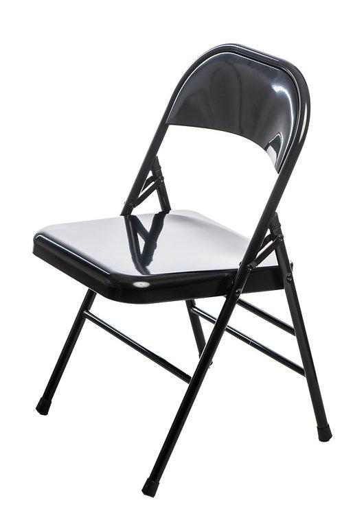 Krzesło czarne składane metalowe  Fabian 22