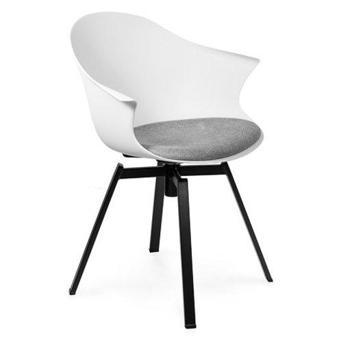 Krzesło białe  obrotowe Kornel 55