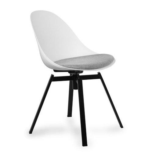 Krzesło białe obrotowe z poduszką