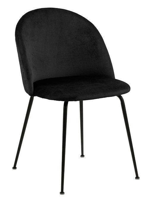 Krzesło czarne welurowe Rubi 1