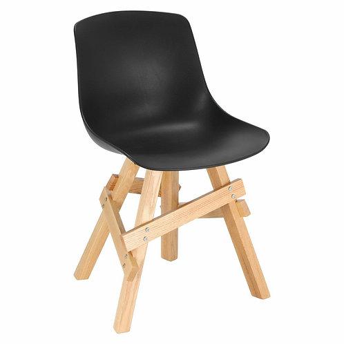 Krzesło drewniane  czarne  dębowe Vesuvio 31